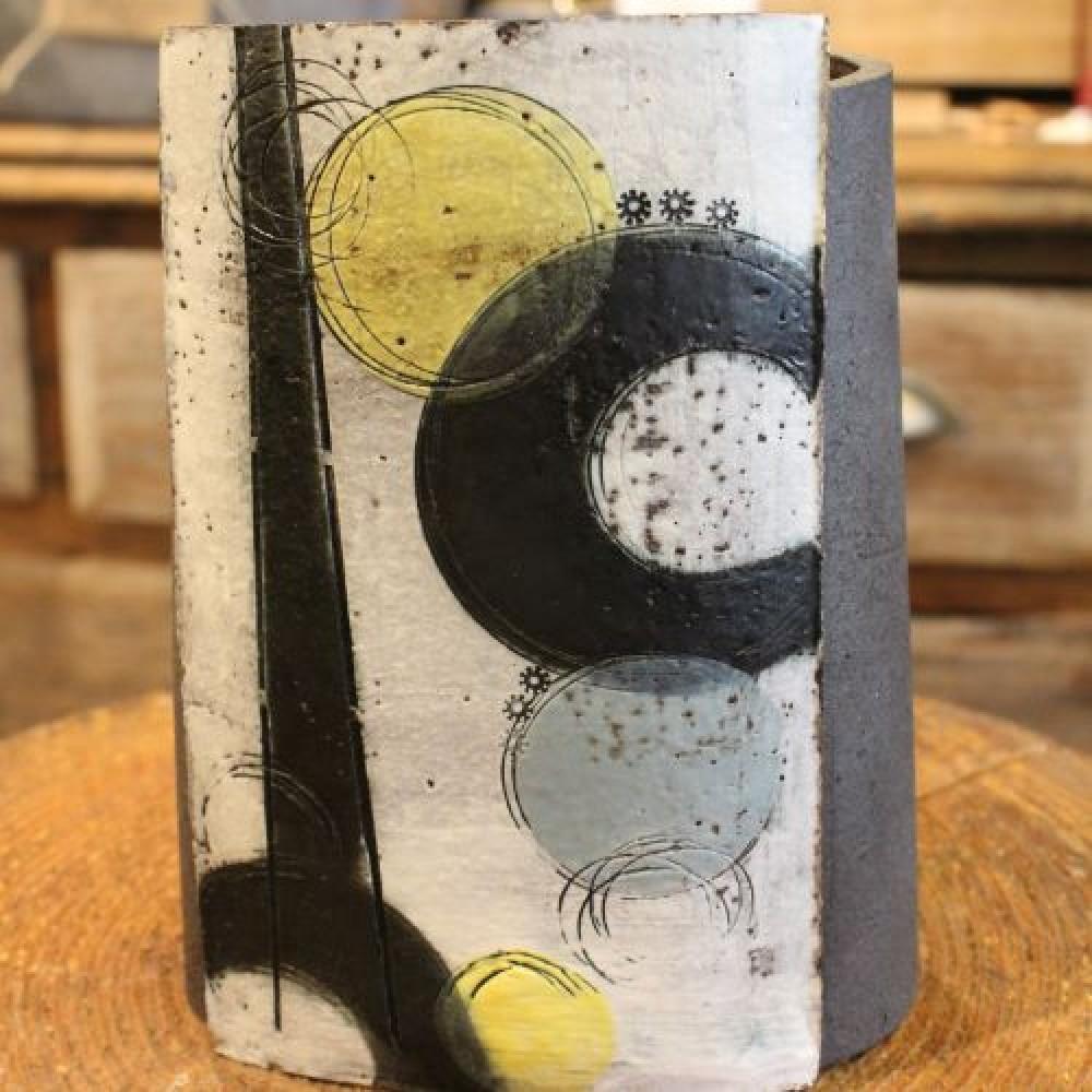Handmade Ceramic Vase - Yellow