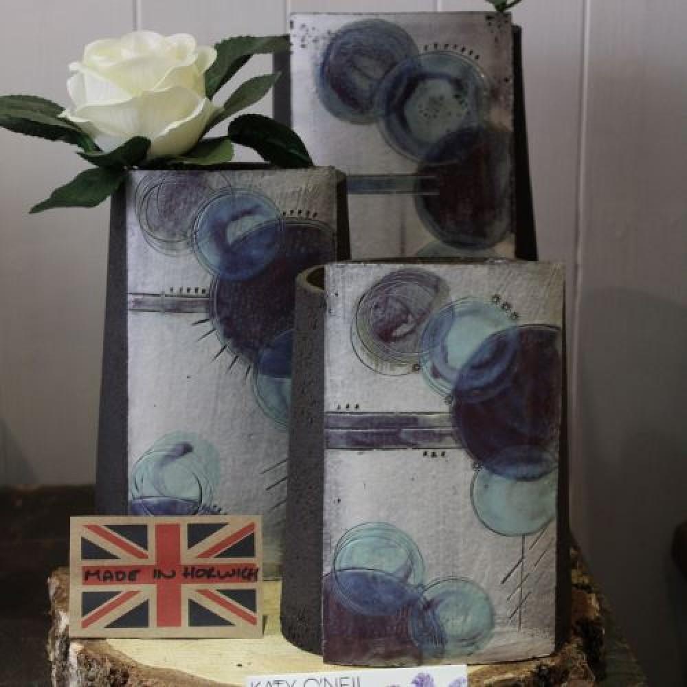 Handmade Ceramic Vase - Blue