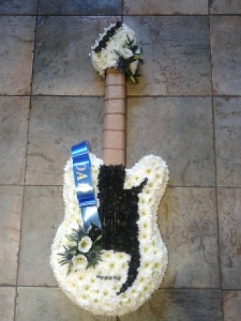 Guitar funeral tribute