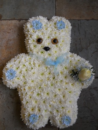 Teddy bear funeral tribute