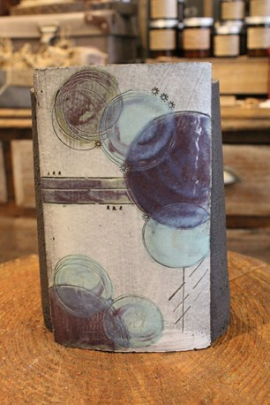 Handmade blue ceramic vase