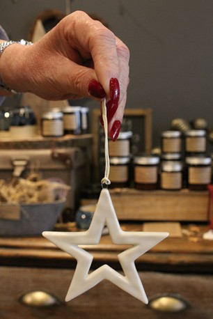 Porcelain Star Decoration