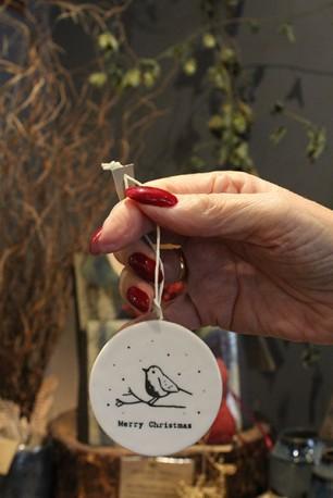 Porcelain 'Merry Christmas' decoration 3