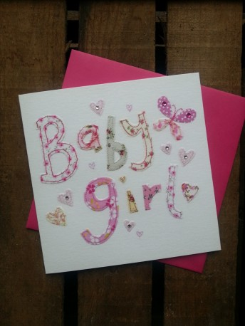 Baby girl greetings card