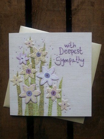 Sympathy greetings card