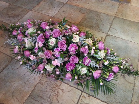 Mixed floral casket spray