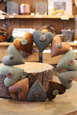 Handmade heart wreath