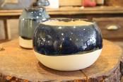 Blue handmade orb vase