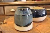 Handmade blue bud vase