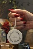 Porcelain 'Merry Christmas' decoration