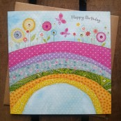 Happy birthday greetings card